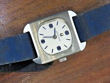 Vintage stainless steel LADIES BLUE BULOVA ACCUTRON watch BAND OLD STOCK RARE