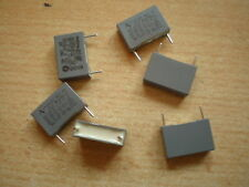 Polyester capacitor 100NF 250V X2 pitch 15mm cut leads  6pcs £2.50