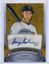 2010 Bowman Sterling Danny Valencia Autographed Gold RC 28/50 Auto