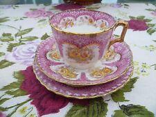 Vintage / Antique English China Trio Tea Cup Saucer W Bros Athens Pink 8265