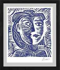 "Pablo Picasso Original Limited Edition Print ""Woman in Hat"" Hand Signed w/COA"