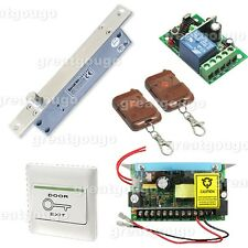 Remote Control Door Access Control System Electric Bolt Lock Power Supply Switch