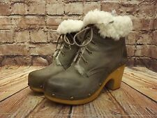 Onorevoli JEFFREY CAMPBELL woodies Mink Pelle Stringati Stivaletti UK 5