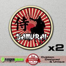 2x SAMURAI jdm sticker decal vinyl rising sun jap japan drift vintage suzuki 4x4
