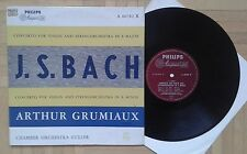 V626 GRUMIAUX BACH VIOLIN CONCERTO GULLER CHAMBER ORCHESTRA PHILIPS MINIGROOVE