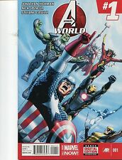 AVENGERS WORLD #1-9 - RAGS MORALES COVER - JONATHAN HICKMAN STORY - 2014