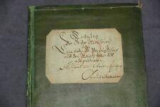ANTIKER BUCHEINBAND PAPPBAND BUCHDECKEL KOPERT BLOCK MAPPE VON 1711