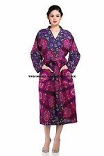 Women's Mandala Kimono Robes Wedding Bride Dressing Party Gown Indian Bathrobes