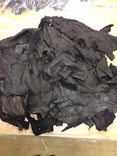 2kg of Black Quality Genuine Leather Scraps / Off-cuts /Remnants /Pieces /Scraps