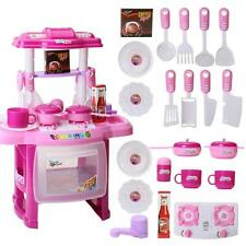 Kid Lights Sound Electronic Kitchen Cooking Role Play  Pretend Role Play Toy Set