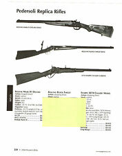 2004 AD PEDERSOLI REPLICA RIFLES KODIAK, ROLLING BLOCK, 1874 SHARPS CAVALRY W/SP