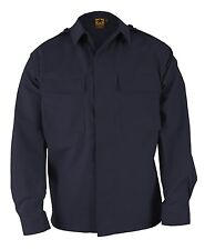 PROPPER F5452 BDU 2 POCKET COAT LONG SLEEVE BATTLE RIP SHIRT NAVY SMALL REG
