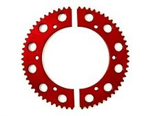 RACING GO KART PIT PARTS #219 CHAIN ALUMINUM SPROCKET GEAR RED 2 PIECE ANODIZED