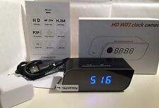 Alarm Clock Hidden Spy Motion Detection P2P WiFi IP Camera, Mains Operated