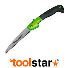 FOLDING GARDEN PRUNING SAW TRI CUT SUPER SHARP HAND WOOD CUTTING GRIP LOCK