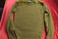 "British Army Jumper ""JERSEY HEAVY OLIVE ROUND NECK"".38-40 inch chest 100 cms.."