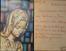 OLD BLESSED VIRGIN MARY HOLY CARD YEAR 1966 ANDACHTSBILD SANTINI ESTAMPA CC618
