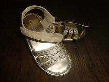 COLE HAAN GIRLS 9 LIL CAIT GOLD RHINESTONE SANDALS SHOES
