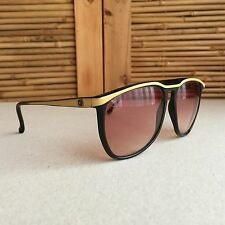 FAB Vintage 80s BAUSCH & LOMB VIII / W0144 Black SUNGLASSES ~ Made in ITALY