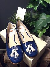 PAUL SMITH BLUE PATENT FLATS (BRAND NEW) SHOES SIZE UK 5/ EUR SIZE 38