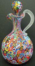 Millefiori Art Glass Cruet Done by Fratelli Toso Millefiori Stopper