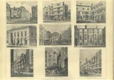 1907 East Strand Old Buildings, Olympic Theatre, Shipyard, Temple Bar, Clements