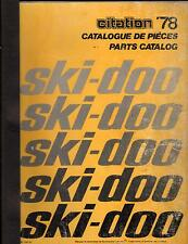 1978 BOMBARDIER SKI-DOO CITATION SNOWMOBILE  PARTS MANUAL (759)
