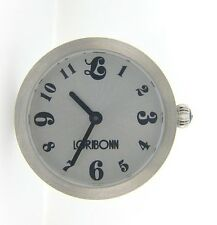 212903 LORI BONN STAINLESS STEEL THIS TIME AROUND WATCH SLIDE CHARM