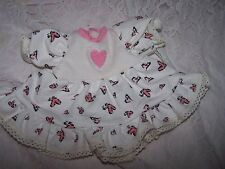 """DoLL CLOTHES  pINK heart FiTs 13""""to14"""" LiTTLe MoMMy BaBy ALiVe MiDDLeToN CoRoLLe"""