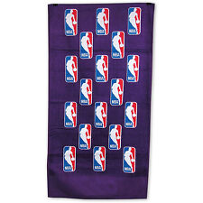 "NBA Logoman Scattered Pattern Purple ""24 x 42"" Bench Towel by McArthur NEW!"