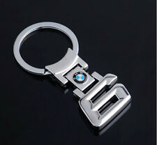 New BMW 6 Series Style Car Keychain Men BMW LOGO Part Collect Key Ring Gif