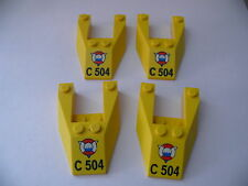 Lego 4 carenages jaunes set 6437 / 4 yellow wedge from coast guard