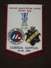 official match pennant Liepajas Metalurgs - AIK Stockholm Sweden 16.08.2007 LE