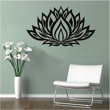 LOTUS Quote Vinyl Wall Sticker Flower Home Decorative Decal Removable Mural