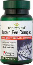 Lutein Eye Complex 10 Lutein Bilberry and Alpha Lipoic Acid 30 Tabs  Natures Aid