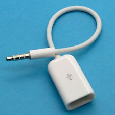 3.5mm New  Male AUX Audio Plug Jack to USB 2.0 Female Converter Cable Cord 1PC