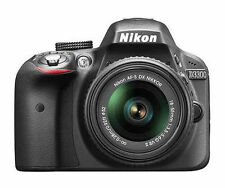 Nikon D3300 24.2 MP CMOS Digital SLR Camera + 18-55mm VR II Lens Kit Black New!
