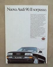 E011 - Advertising Pubblicità - 1987 - NUOVA AUDI 90 , IL SORPASSO
