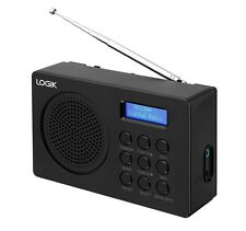 LOGIK L2DAB16 PORTABLE DAB FM DIGITAL RADIO BLACK LCD DISPLAY BATTERY 3.5MM JACK