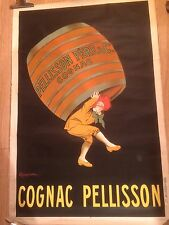 "CAPPIELLO Leonetto ""COGNAC PELISSON"" lithographie Originale de 1917 MEDIUM SIZE"