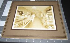 1900s Candy Store PHOTO Display of Chocolate Pastries Desserts Jars Sugar Sweets
