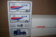 1989 PIE Olympic Rings Double Pup Winross Diecast Trailer Truck