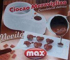 Cioccolatiera elettrica con accessori fonduta di cioccolato stampi cioccolatini
