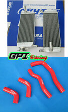 Aluminum Radiator&RED hose FOR Honda CRF 450 X CRF450X 2005-2014 2013 2012