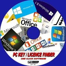 PC PRODUCT LICENCE KEYS FINDER WINDOWS XP VISTA 7 8 8.1 &10 OFFICE + MORE NEW CD