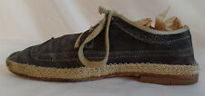 n.d.c. made by hand Suede Espadrille Wingtips 9 US 42 EU Leather Sole Orig Owner