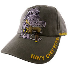 U.S. Navy Chief Retired Hat / USN Old Goat OD Green Baseball Cap 6459