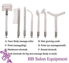 Set 1: High Frequency Ray Facial Spa Acne Skin Care 7 Electrodes Violet Orange