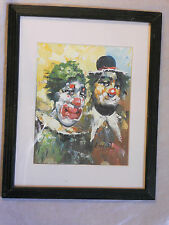 Clowns Oil Painting William W. Moninet Original Signed Framed - Superb Example