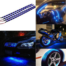 2PC Waterproof 12 LEDs 30cm 5050 SMD LED Strip Light Flexible 12V Car Decor Blue